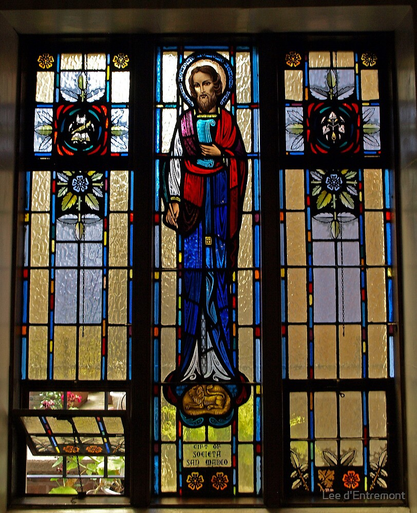A Window in Sacred Heart Church. by Lee d'Entremont