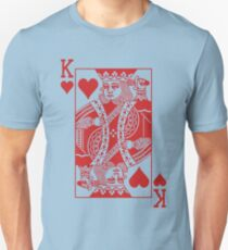 King of Hearts - Red Unisex T-Shirt