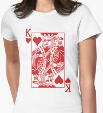 King of Hearts - Red Womens Fitted T-Shirt