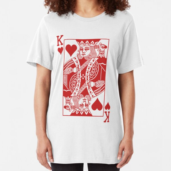 King of Hearts - Red Slim Fit T-Shirt