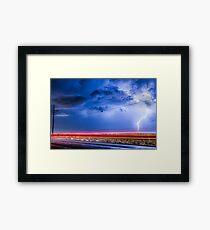 Drive By Lightning Strike Framed Print