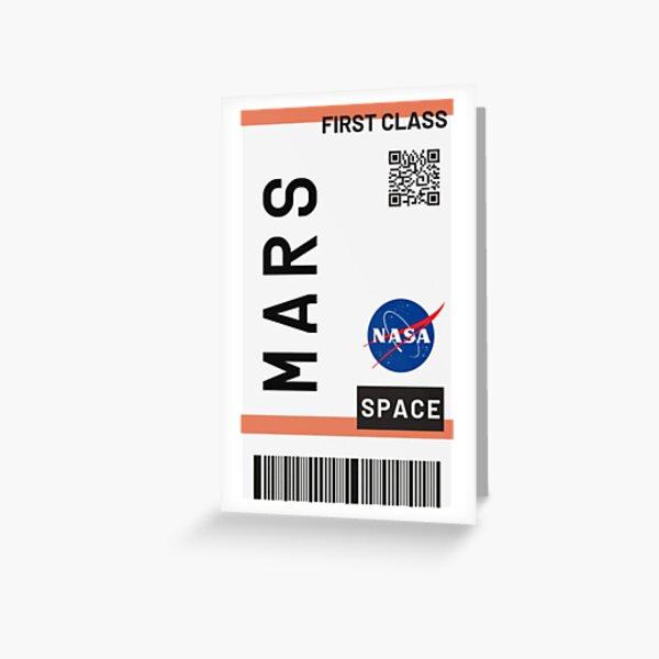 Best Seller - Billet d'avion Mars Nasa Carte de vœux