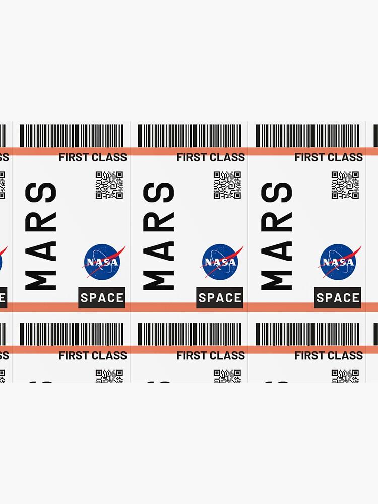 Bestseller - Mars Flugticket NASA von zaklawson24