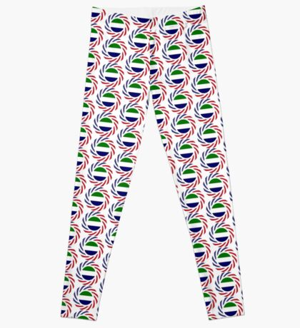 Sierra Leonean American Multinational Patriot Flag Series Leggings