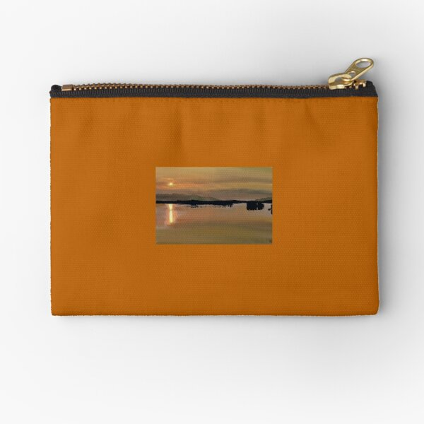 Alaskan Sunset drawing Zipper Pouch