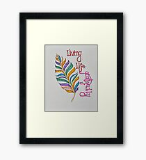 Feathers/4 - Gratitude/1 Saying Framed Print