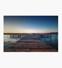 Balaton Pier Photographic Print