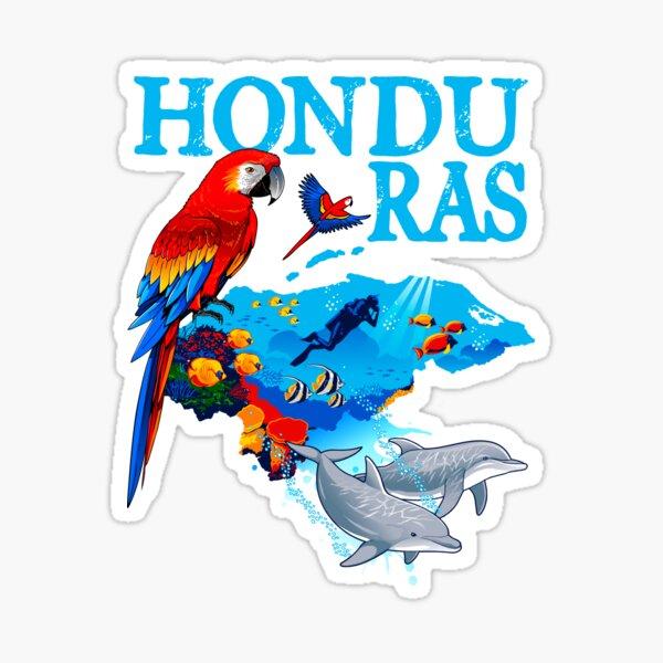 Mapa de Honduras Turistico Pegatina