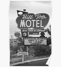 Route 66 - Hill Top Motel Poster