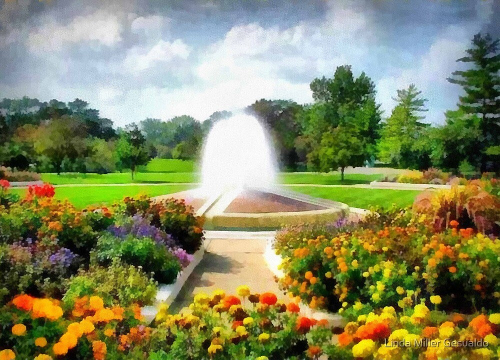 Garden In The Park by Linda Miller Gesualdo