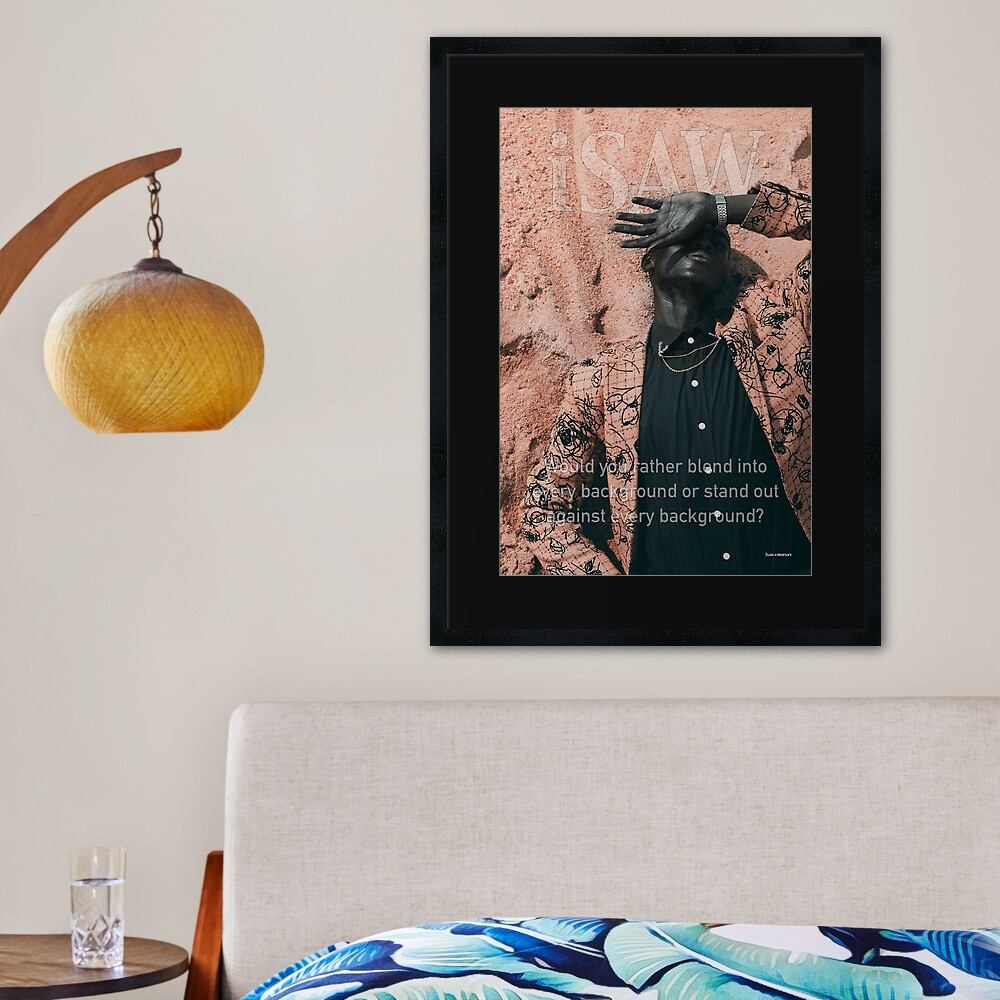 Blend In or Stand Out Framed Art Print
