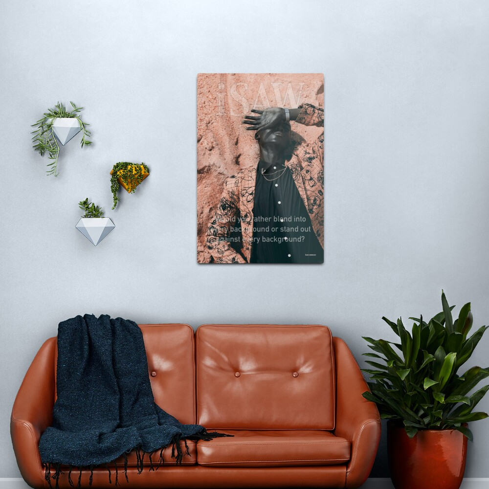 Blend In or Stand Out Metal Print