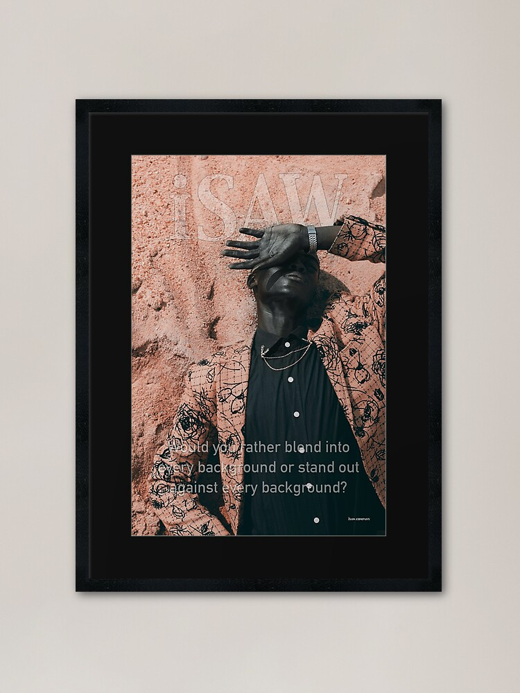Alternate view of Blend In or Stand Out Framed Art Print
