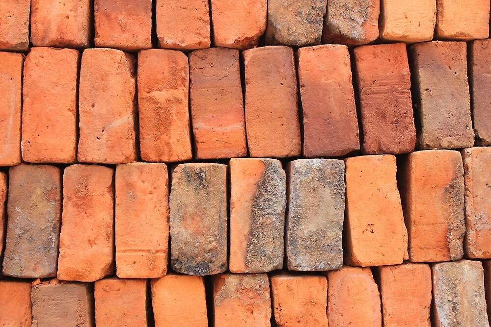 Adobe Bricks in a Pile by rhamm