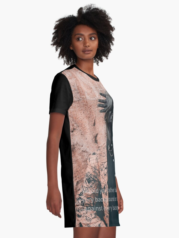 Alternate view of Blend In or Stand Out Graphic T-Shirt Dress