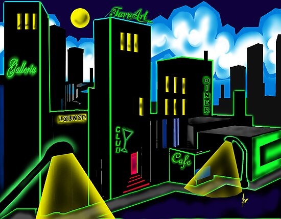 """""""IntenseCity: Neon Nights"""" by Steve Farr"""