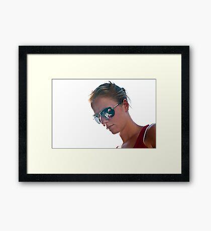 Shiny Glasses Framed Print