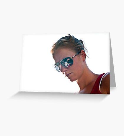 Shiny Glasses Greeting Card