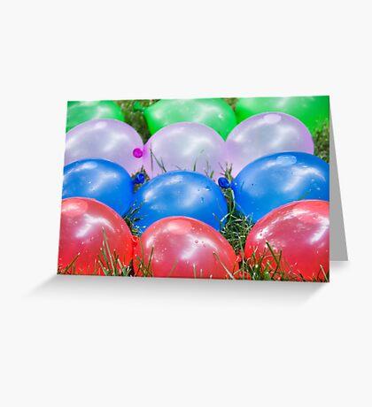 Water Balloons Greeting Card