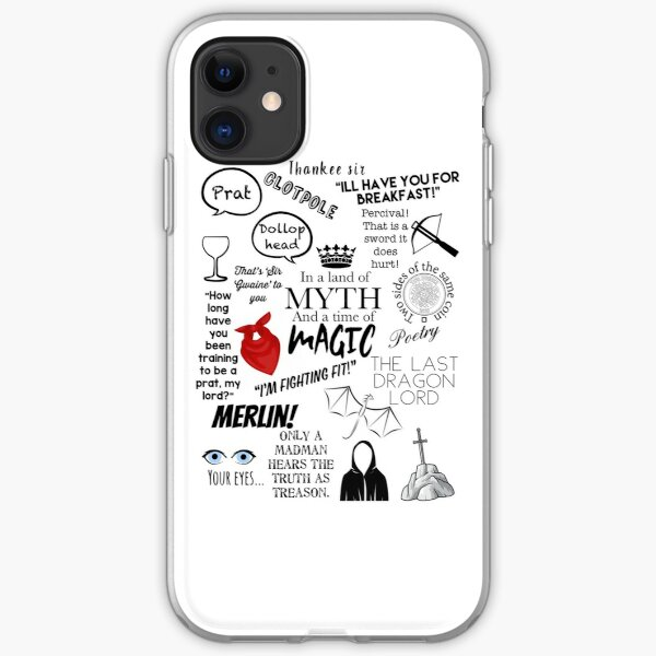 Merlin quotes iPhone Soft Case