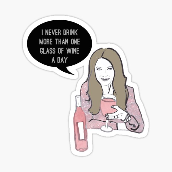 A glass a day Sticker