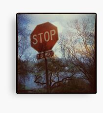 Flood Warning Canvas Print
