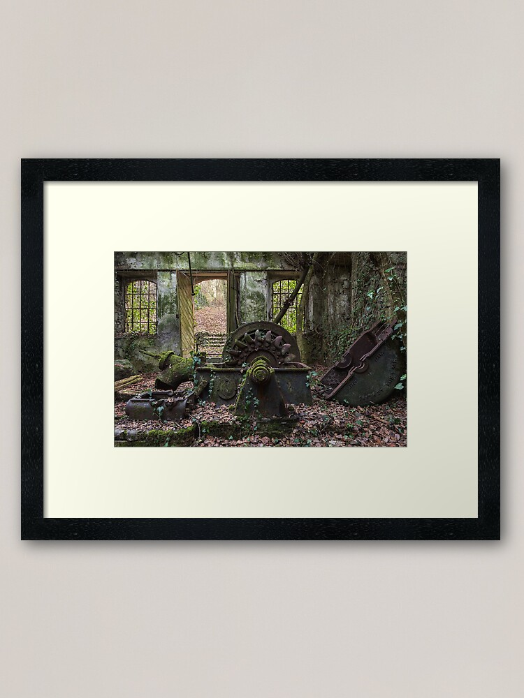 Alternate view of Green energy lost in the wood Framed Art Print