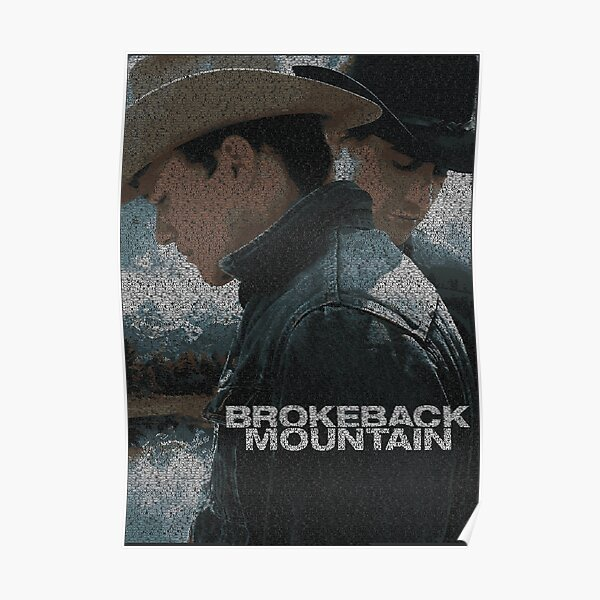 Text Portrait of Brokeback Mountain poster with full script of the movie Brokeback Mountain Poster
