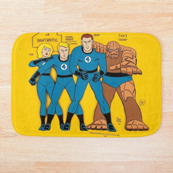 The Fantastic Four Classic Vintage Retro Cartoons - Comics  Bath Mat