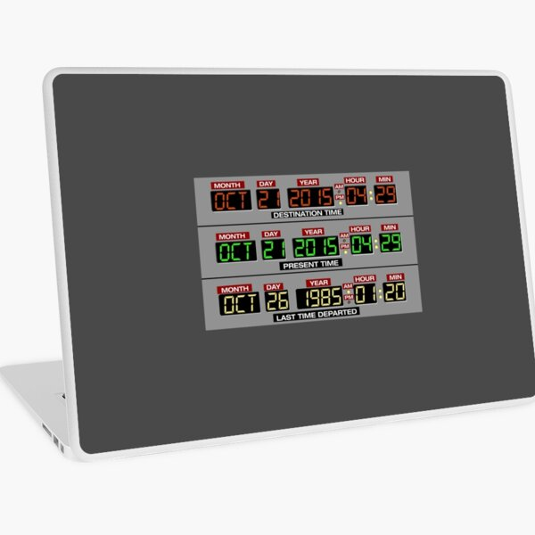 Back to the Future 2 Time Circuits 2015 Laptop Skin