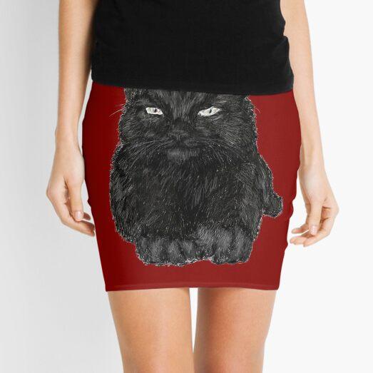Black Cat Mini Skirt