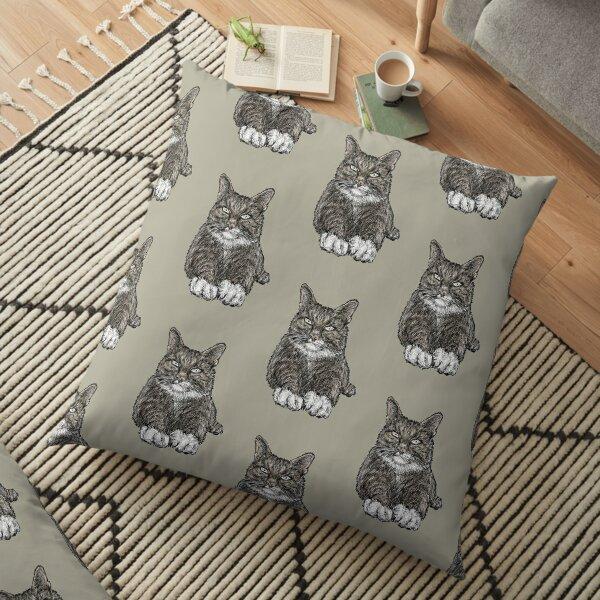 Tabby Cat Floor Pillow