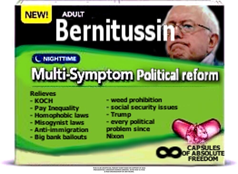 Bernitussin Bernie Sanders 2016 by HandlebarOrionX