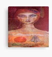 Apple Fly Girl Canvas Print