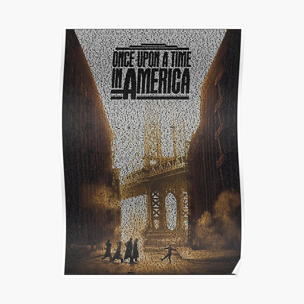 Text Portrait of Dumbo Skyline with full script of the movie Once Upon a Time in America Poster
