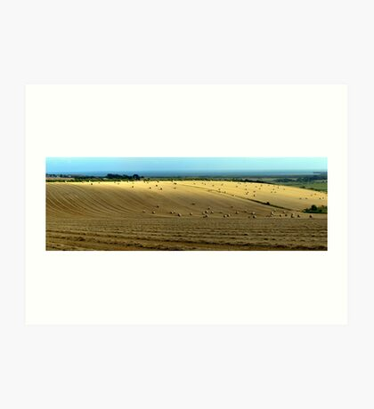 From Hay Bales to the Sea Art Print