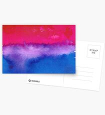 Bisexual pride flag Postcards