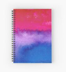 Bisexual pride flag Spiral Notebook