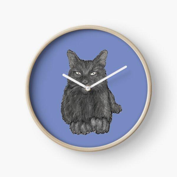 Grey Cat Clock