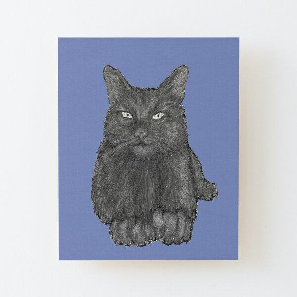 Grey Cat Wood Mounted Print