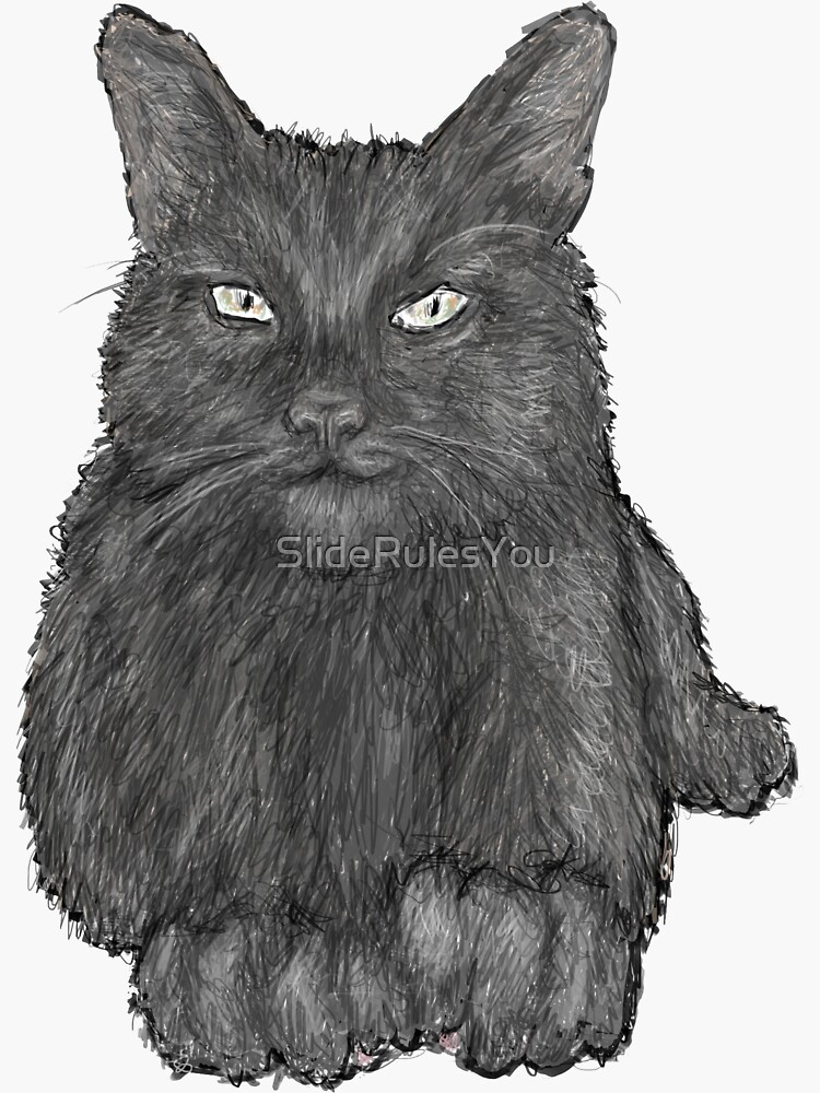Grey Cat by SlideRulesYou