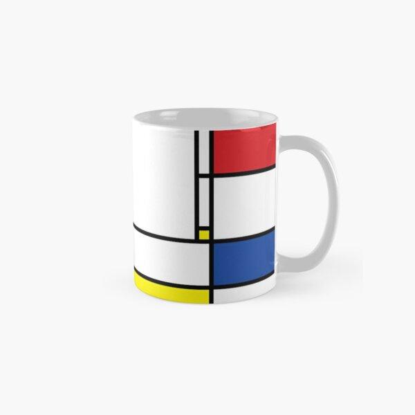 Mondrian Minimalist De Stijl Modern Art © fatfatin Mug classique