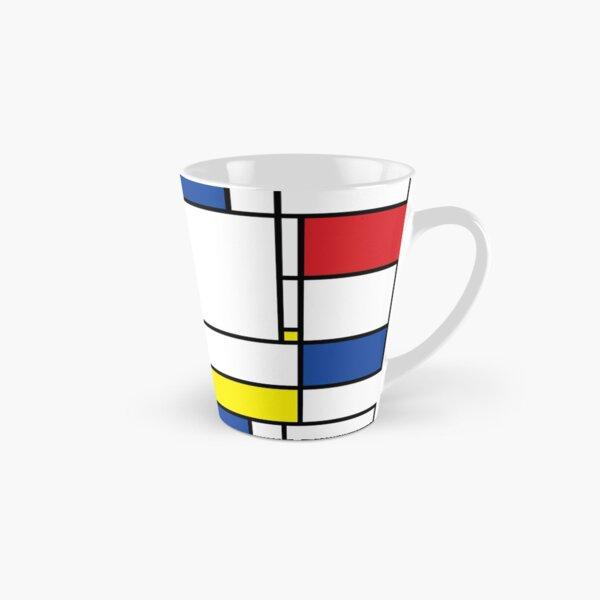 Mondrian Minimalist De Stijl Modern Art © fatfatin Mug long