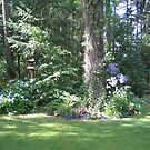 Backyard in Bloom by Pat Yager