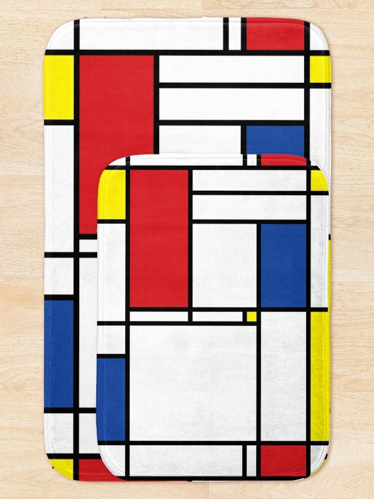 Alternate view of Mondrian Minimalist De Stijl Modern Art © fatfatin Bath Mat