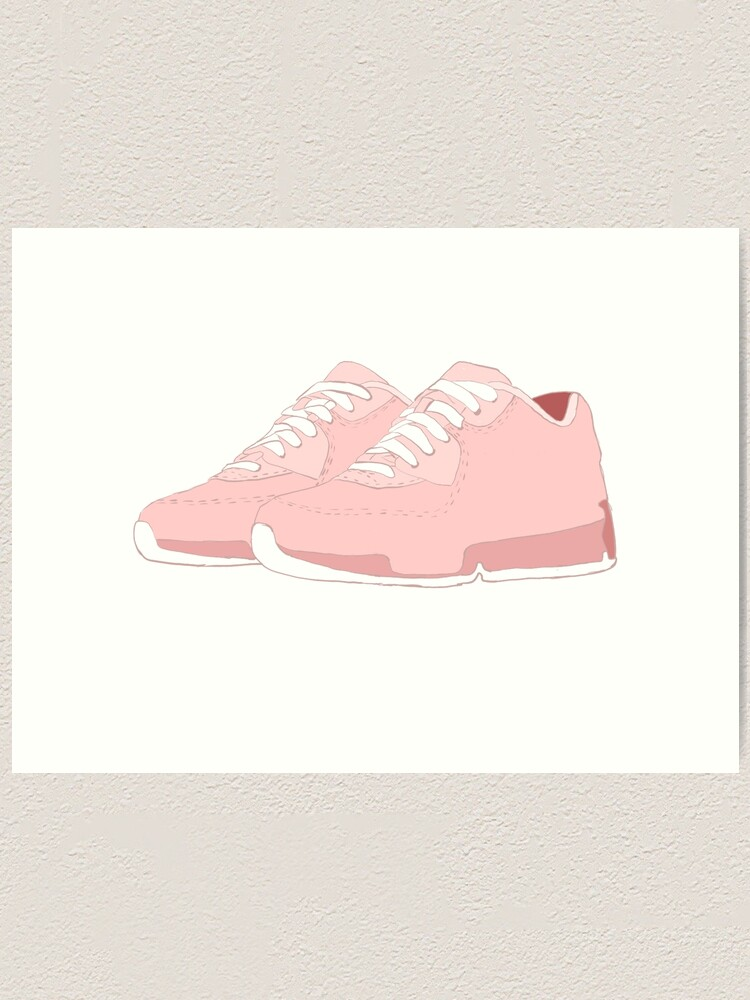 Cute Pastel Pink Trainers\