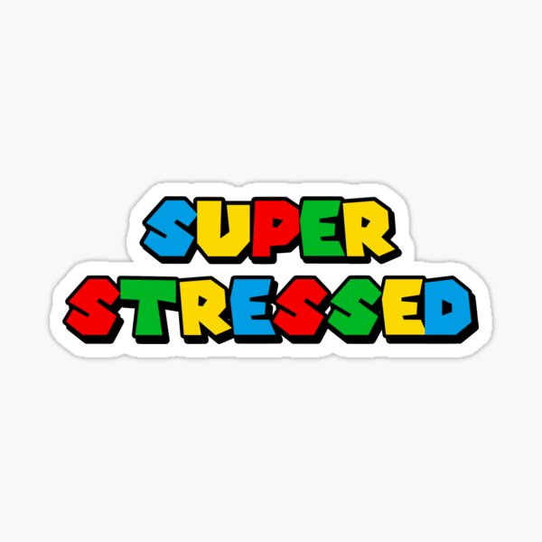 autocollant de jeu vidéo super stressé Sticker