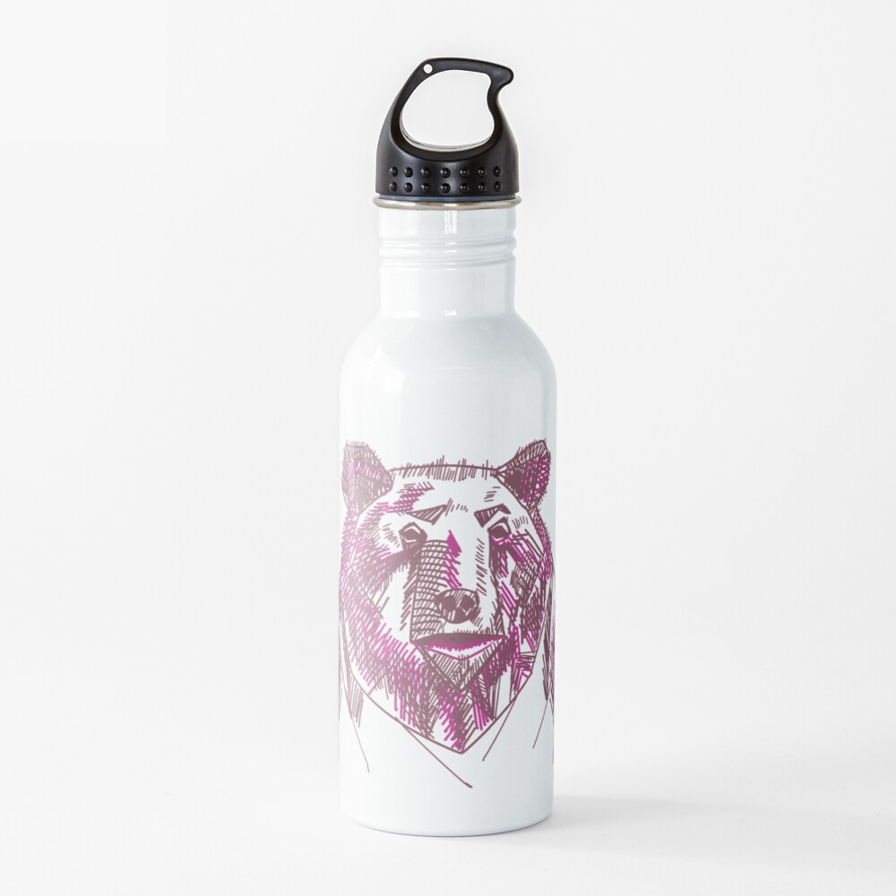 A bit edgy today Water Bottle