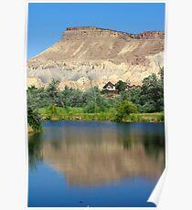 Mt. Garfield Reflection Poster