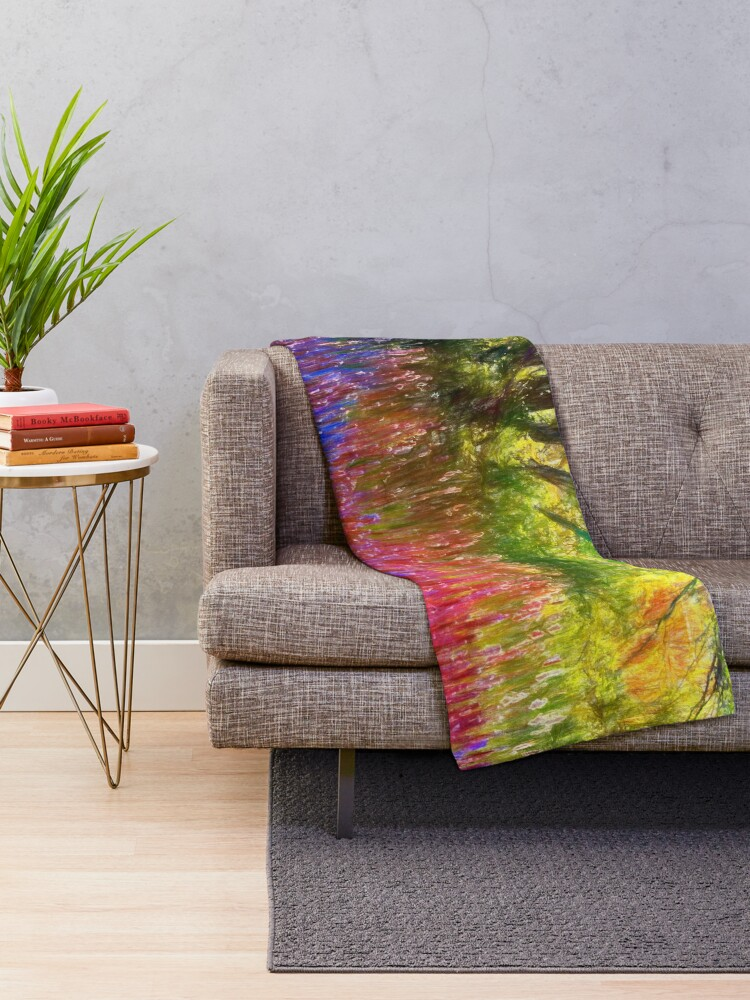 Alternate view of Spring in the park Throw Blanket